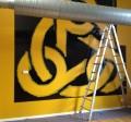 Zeppelinerhallen montering skilt folie dekoration skiltefabrikken københavn islandsbrygge