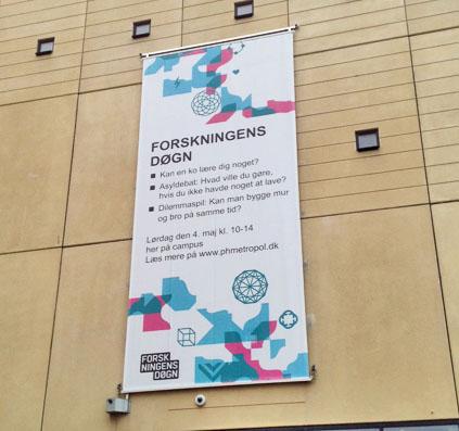 banner stof stor forskning forskningens døgn københavn skilt skiltefabrikken københavn østerbro skilt