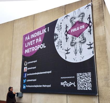 banner til metropol københavn stor qr kode skilt skiltefabrikken