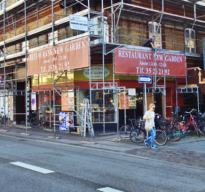banner i alle størrelser til Restaurant new Garden på Trianglen Østerbro København skiltefabrikken