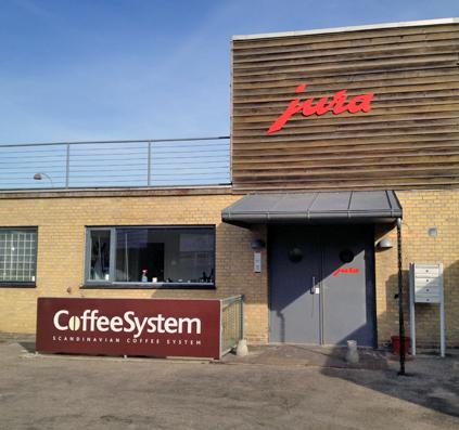 coffee system jura facadeskilt udfræset aluminium