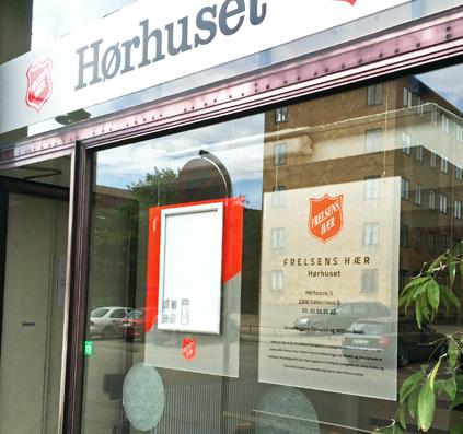skilte til frelsens hær af skiltefabrikken hørhuset hørhusvej københavn ramme print acryl skitle plade med logo