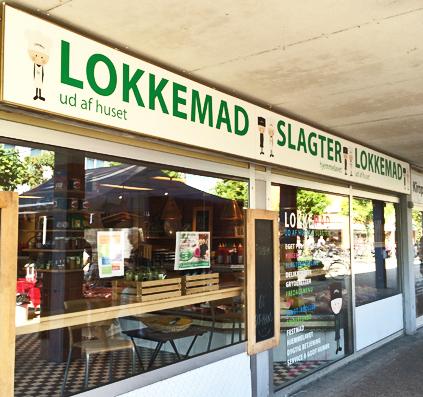 Ny facade til Lokkemad Slagter hjemmelavet opsat og monteret i solrød af skiltefabrikken københavn østerbro