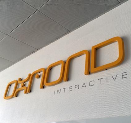oxmond logo i udfræset pvc