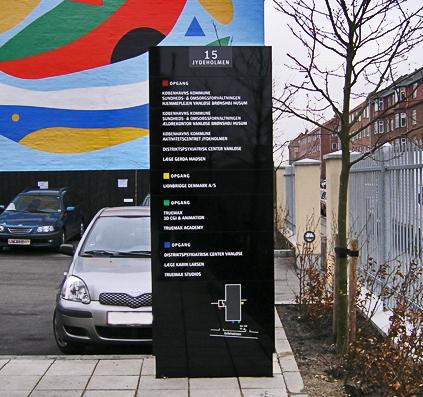 Jydeholden 15 pylon skilt skiltefabrikken vejvisning info