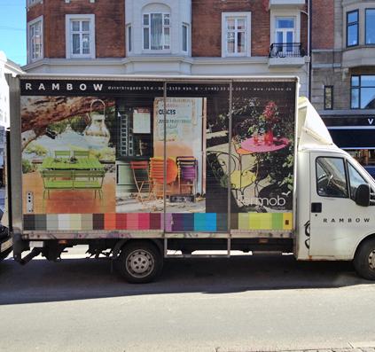 bil folie skilt reklame dekoration skiltefabrikken københavn østerbro rambow
