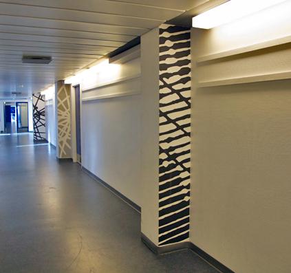 ryssensten gymnasium folie på væg skilt skiltefabrikken mønster