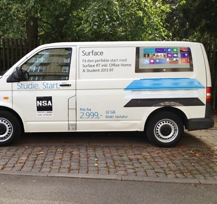 surface bil dekoration folie skilt skiltefabrikken københavn østerbro copenhagen commercial reklame bilreklame