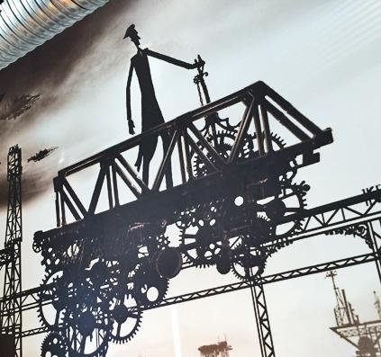 Tapet med print monteret på væg i mødelokale hos Pentia. opsat af skiltefabrikken østerbro københavn